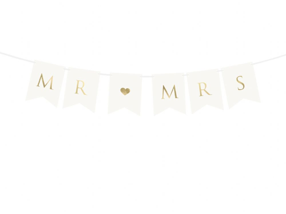 Mr & Mrs Banner White/Rose Gold